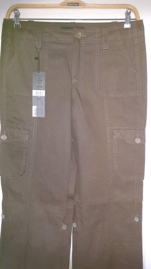 Oui Set Pantalone cargo marrone scuro