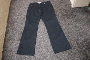 Pantalone a vita alta nero Cotone