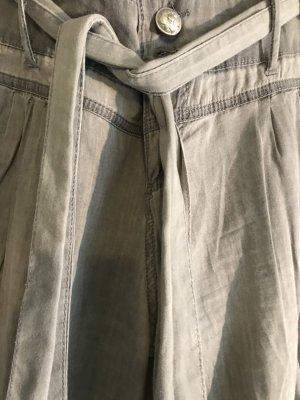 Pantalone jersey argento