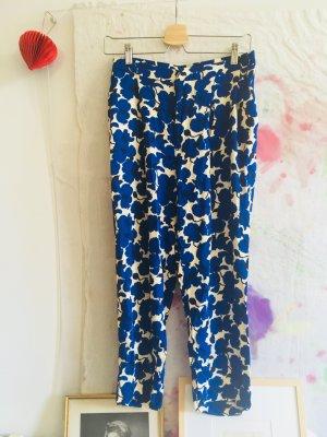 H&M Pantalón tipo suéter azul-blanco