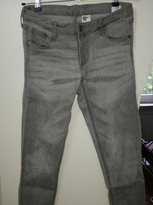 Hose H&M grau skinny low waist ankle Gr 30