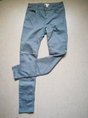 H&M Pantalon cigarette bleu pâle