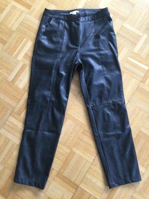 H&M Pantalon 7/8 noir faux cuir