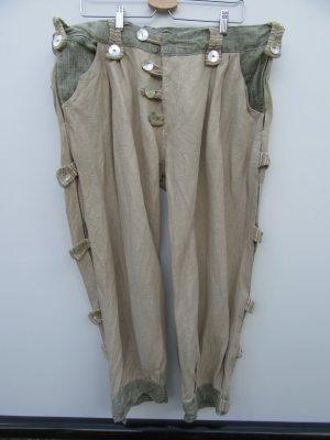 Vintage Pantalón capri beige-camel