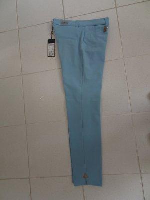 Pamela Henson Pantalone elasticizzato azzurro Cotone