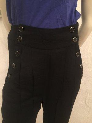 Minimum Pantalon taille haute noir