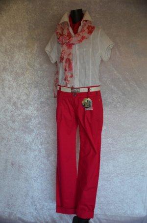 Neighborhood Chinos magenta-raspberry-red cotton