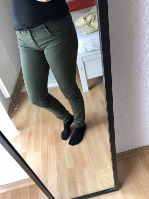 Zara Low-Rise Trousers khaki
