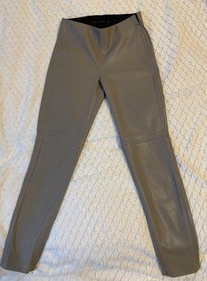 Zara Basic Leren broek grijs-bruin