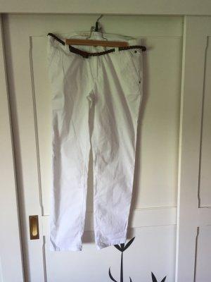 Hose in weiß aus dünnem Stoff von Esprit aus Baumwolle