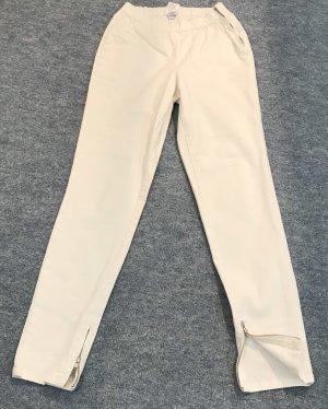 Madeleine Drainpipe Trousers natural white
