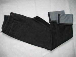 Hose Jeans 7/8-Hose Stiefelhose Aufschlag Gr. 40 schwarz BRAX