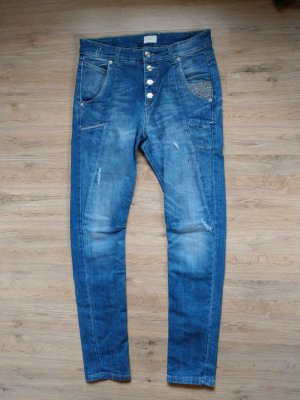 Mac Skinny jeans neon blauw