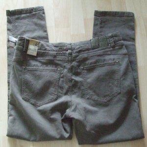 Nile Jeans boyfriend marrone-grigio-verde scuro Cotone