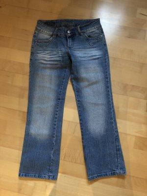 Jeans a 7/8 blu-azzurro