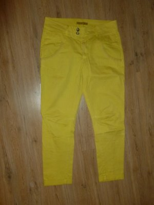 Hose Jeans gelb Made in Italy