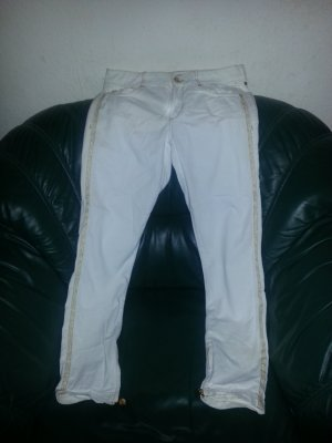 Hose Jeans / Jeggings weiß Versace von H & M Gr.38 (UK 12)