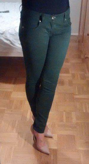 Hose Jeans Love Moschino Gr. 26 W26 grün dunkelgrün skinny slim röhren designer