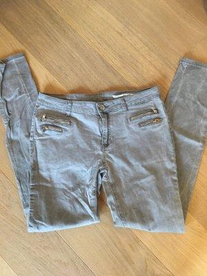 Hose Jeans skinny grau stretchig Slim Fit Medium Rise Gr. 40