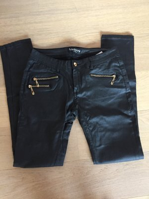 Hose Jeans Skinny stretchig schwarz glänzend Gr. L
