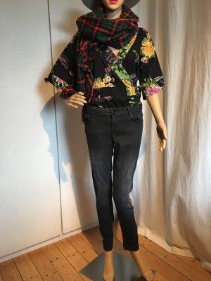 Hose, Jeans-Stretch, schwarz, leicht ausgewaschen