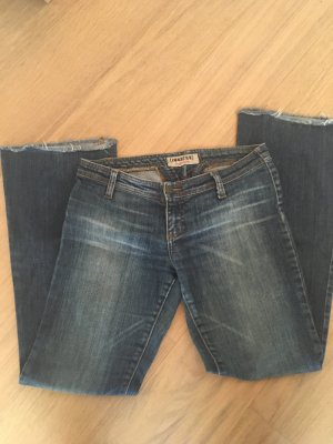 Hose Jeanshose Hüfthose Schlaghose blau Denim Gr. W27