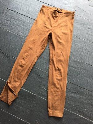 Hose, jeggings von Zara, wildlederstyle, braun, supersoft, ungetragen, Größe S