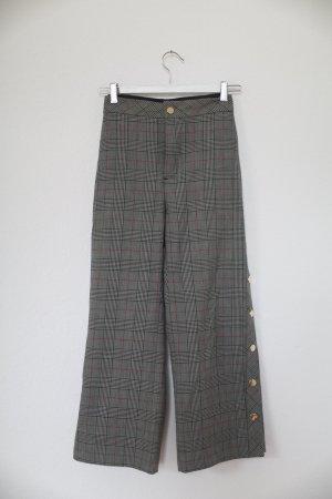 Hose kariert Cropped Style von Zara Gr. S mit Knöpfen Vintage 70s Look