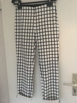 Zara 3/4 Length Trousers white-dark blue