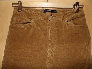 Mango Pantalone di velluto a coste marrone Cotone