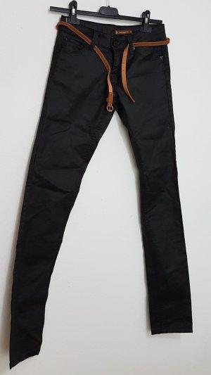 Daysie Leren broek zwart