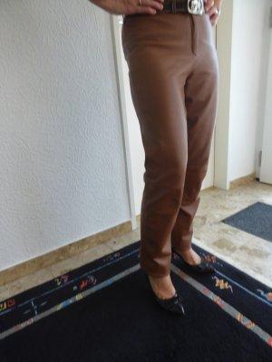 Madeleine Pantalone in pelle marrone Pelle