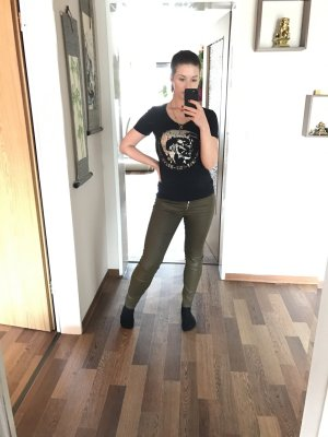 Zara Jeggings olive green