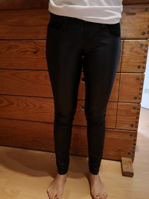 United Colors of Benetton Leather Trousers black