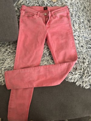 Lee Pantalone cinque tasche rosa-fucsia neon Cotone