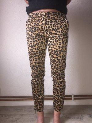 Hallhuber Pantalone cargo nero-marrone
