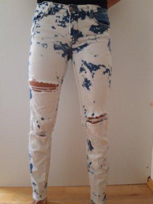 Tally Weijl 3/4 Length Jeans white-steel blue
