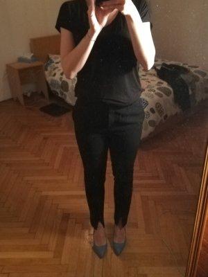 Mango Pleated Trousers black