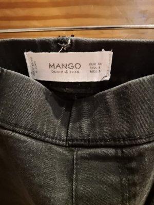 Mango Jegging noir-gris clair