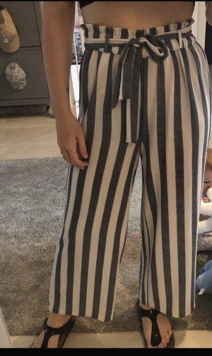 Only Pantalone a pieghe bianco-blu