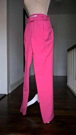 Hose mit Bundfalten in Pink
