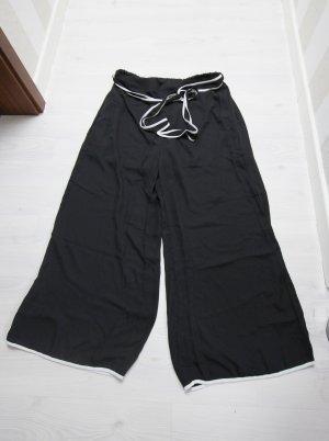 Pantalón de cintura alta negro-blanco