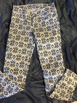 Zara Trafaluc Pantalón de tubo crema-negro