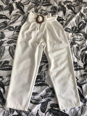 Asos Petite Pantalone culotte bianco-color cammello