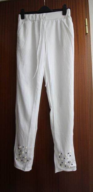 High Waist Trousers white