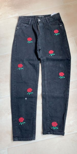 Zara Jeans boyfriend nero-rosso