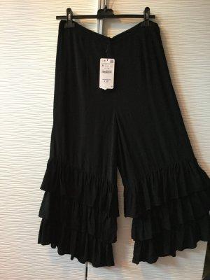 Zara Pantalon noir viscose