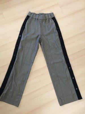 Monki Pantalon taille haute crème-brun noir