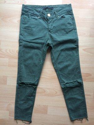 Hose navy grün Skinny Größe S