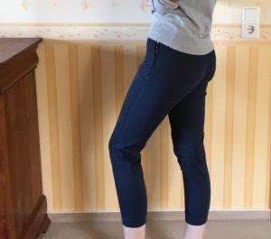 Zara Pantalón tobillero azul oscuro-azul acero